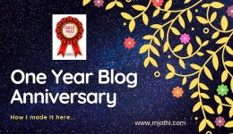 One Year Blog Anniversary post
